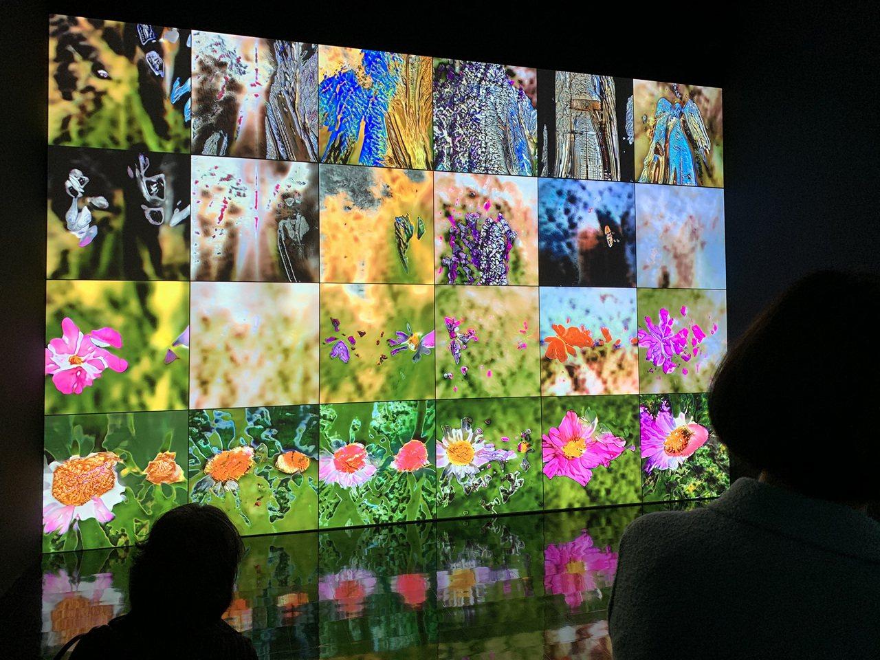 台達8K投影技術協助東京森美術館完成的影音藝術作品「深度冥思」。圖/台達提供
