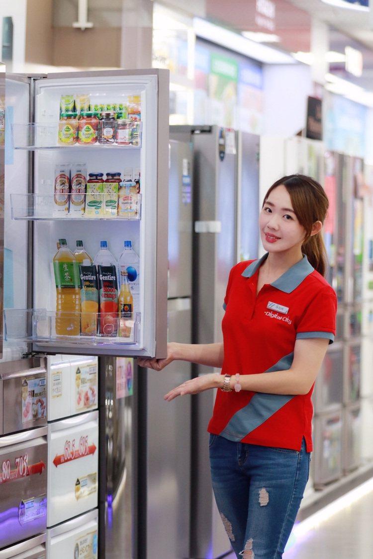 多門大容量冰箱是年終家電換購首選之一,全國電子推出多款破盤價冰箱降價再送禮。圖/...