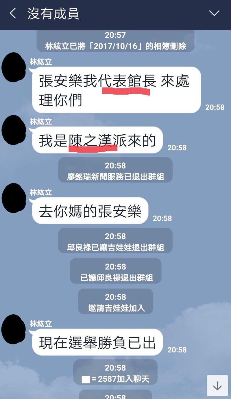 大選落幕,近日許多韓粉群組被有心人滲透「翻群」。圖/網友「小林」提供