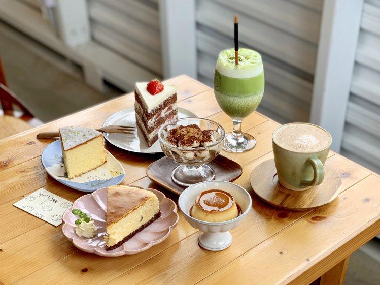 「美美子手作甜點」提供豐富的甜點、飲品。記者張芳瑜/攝影