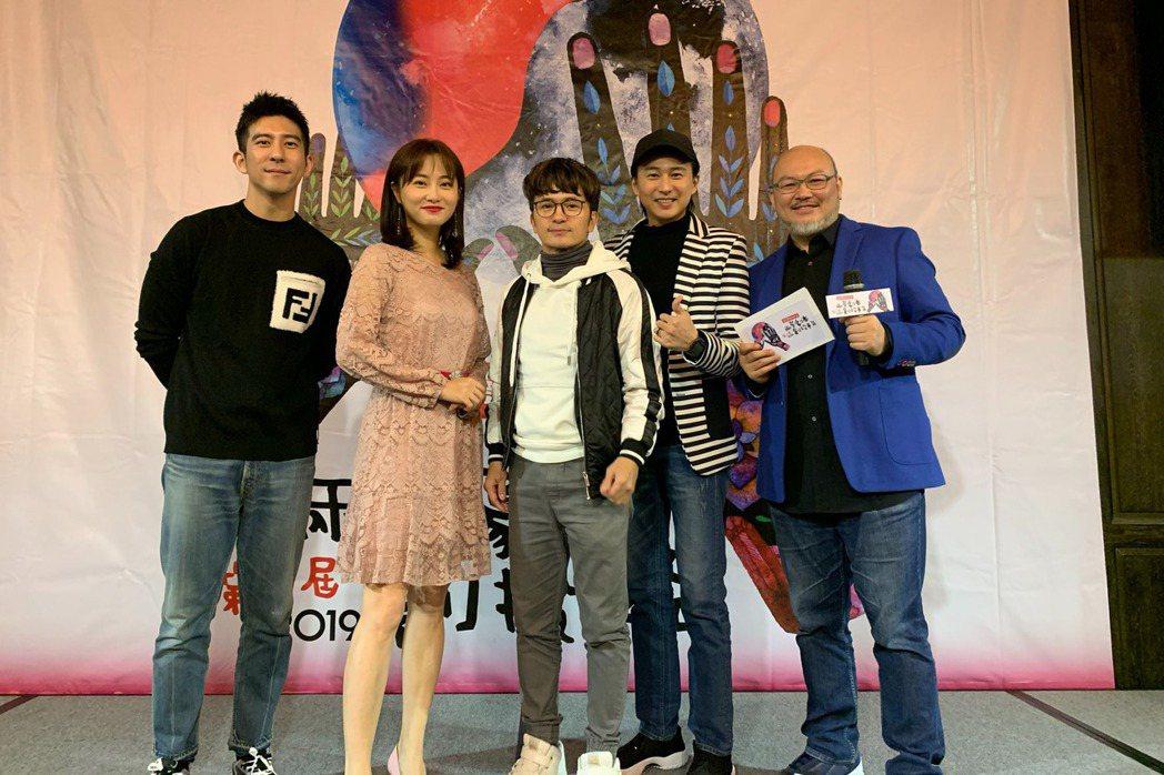 劉亮佐(右起)、狄志杰、唐從聖、趙小僑、修杰楷出席「兩岸劇本創投平台」。圖/筋斗