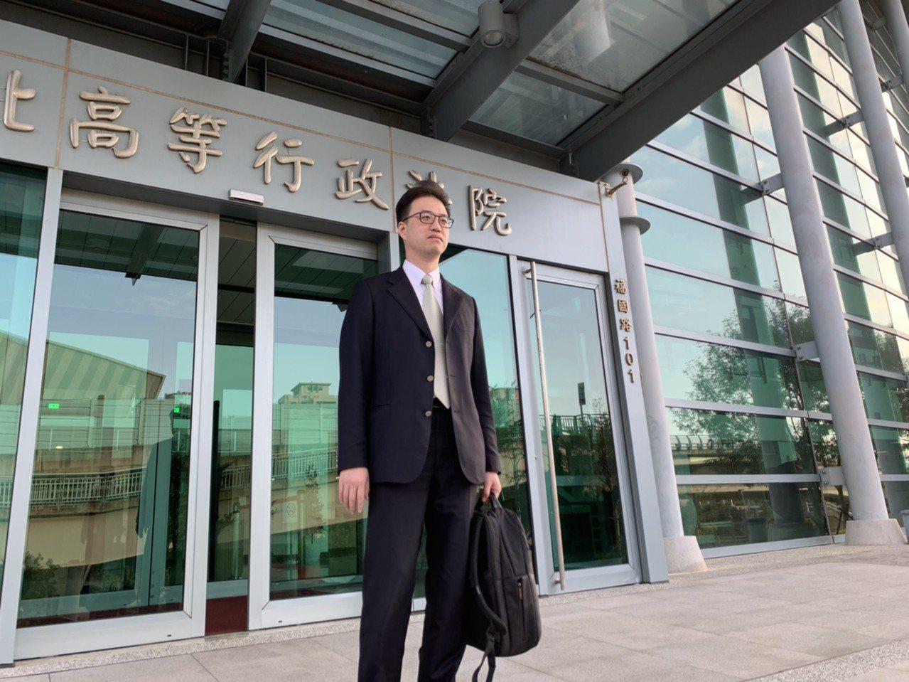 國民黨委任律師張少騰今到庭聽判。記者賴佩璇/攝影