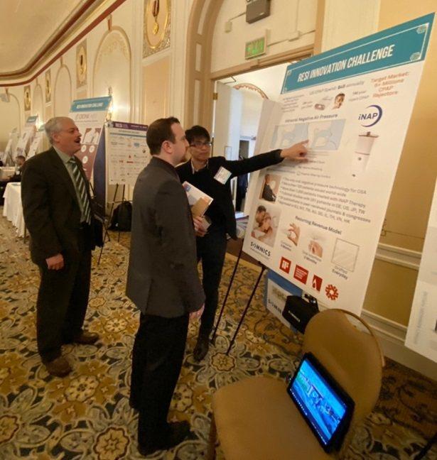 萊鎂醫在RESI Innovation Challenge向與會者介紹iNAP產...