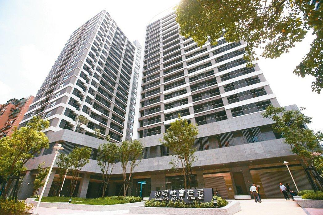 圖為台北市南港「東明社會住宅」。 圖/聯合報系資料照片