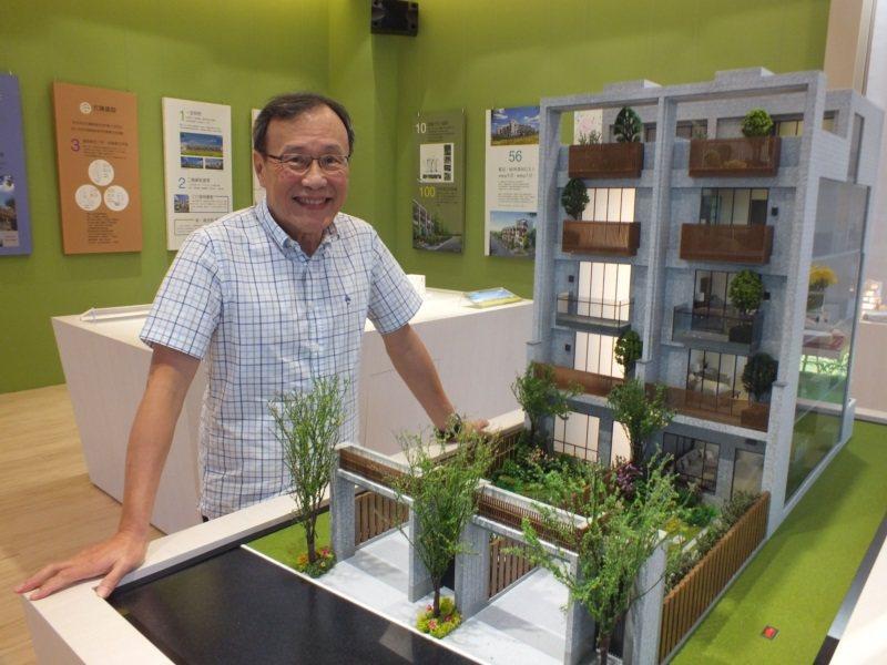 元謙建設總經理林憲廷65歲創業,要蓋夢想中的別墅。 圖/趙容萱攝影