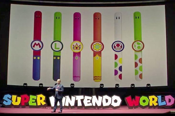 未來遊客們遊客可以從各式瑪利歐風格的手環中擇一,透過與手機連線,在「超級任天堂世...
