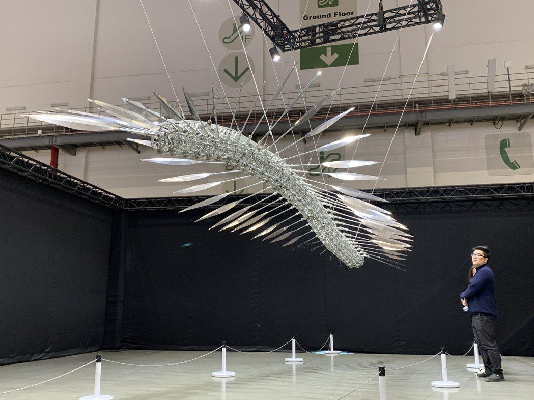 展場中許多深具創意的裝置藝術。 陳志光/攝影