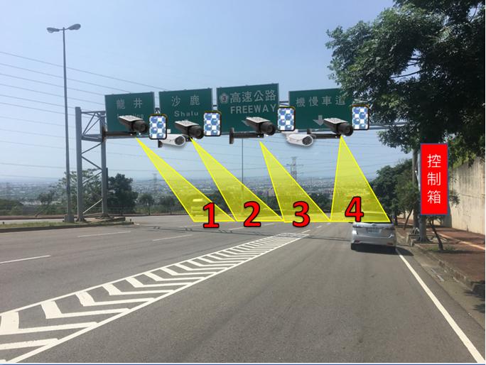 台中市警局在沙鹿區向上路6段、台61線西濱快速道路等3個路段啟用區間測速照相,昨...