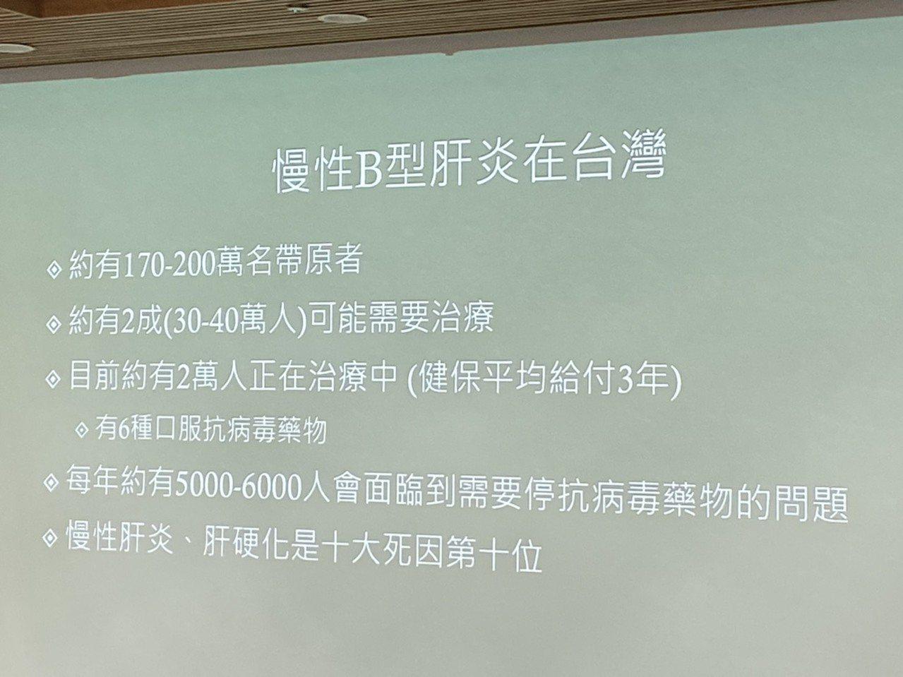 台大醫院內科部醫師蘇東弘表示,據統計,慢性肝炎、肝硬化是國人十大死因第十位。目前...