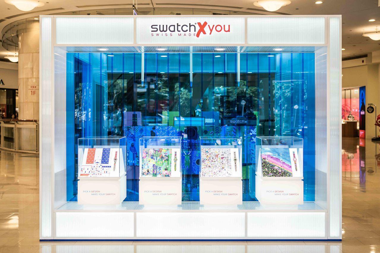Swatch X You快閃店登陸台北101。(圖/Swatch提供)