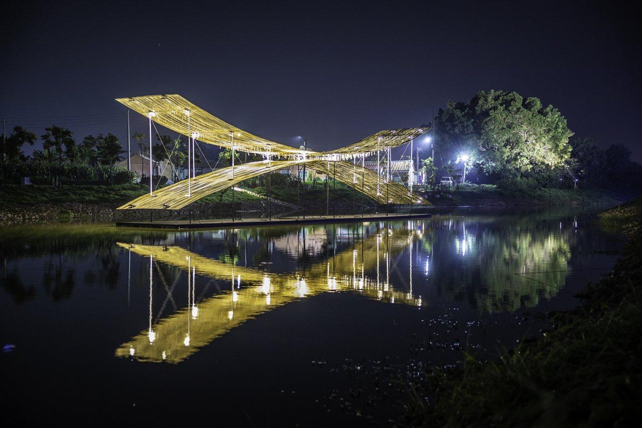 台南鹽水月津港燈節18日周六登場。圖/文化局提供
