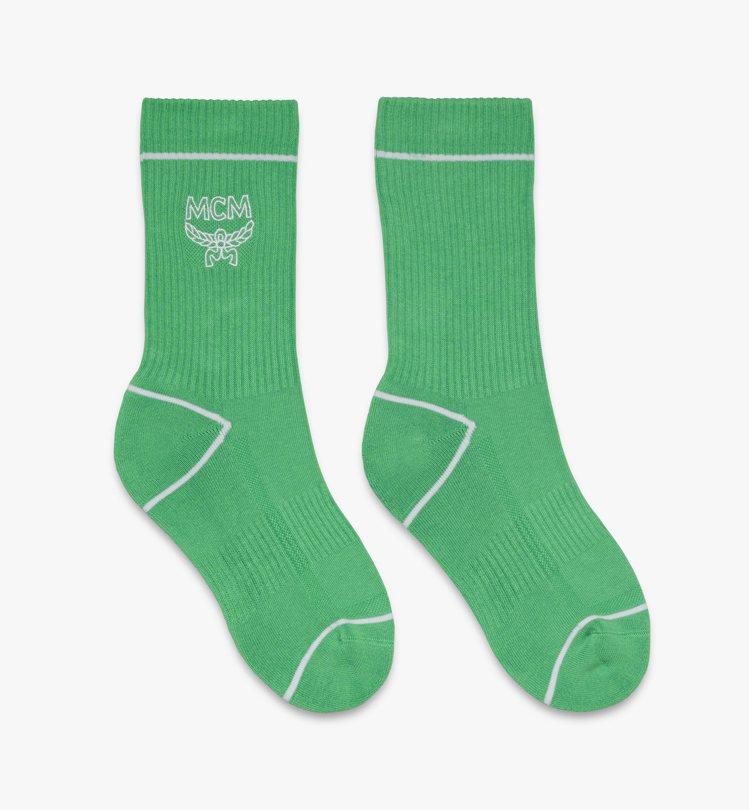 MCMLOGO綠色長襪,售價3,000元。圖/MCM提供