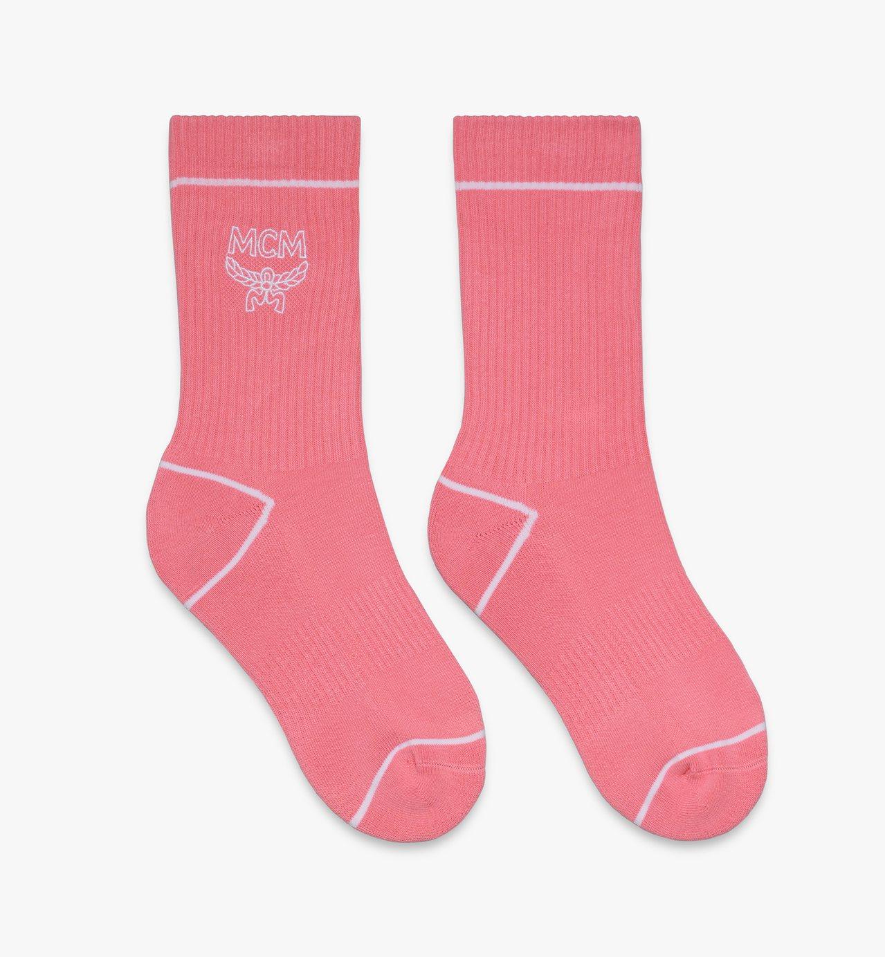 MCMLOGO粉色長襪,售價3,000元。圖/MCM提供