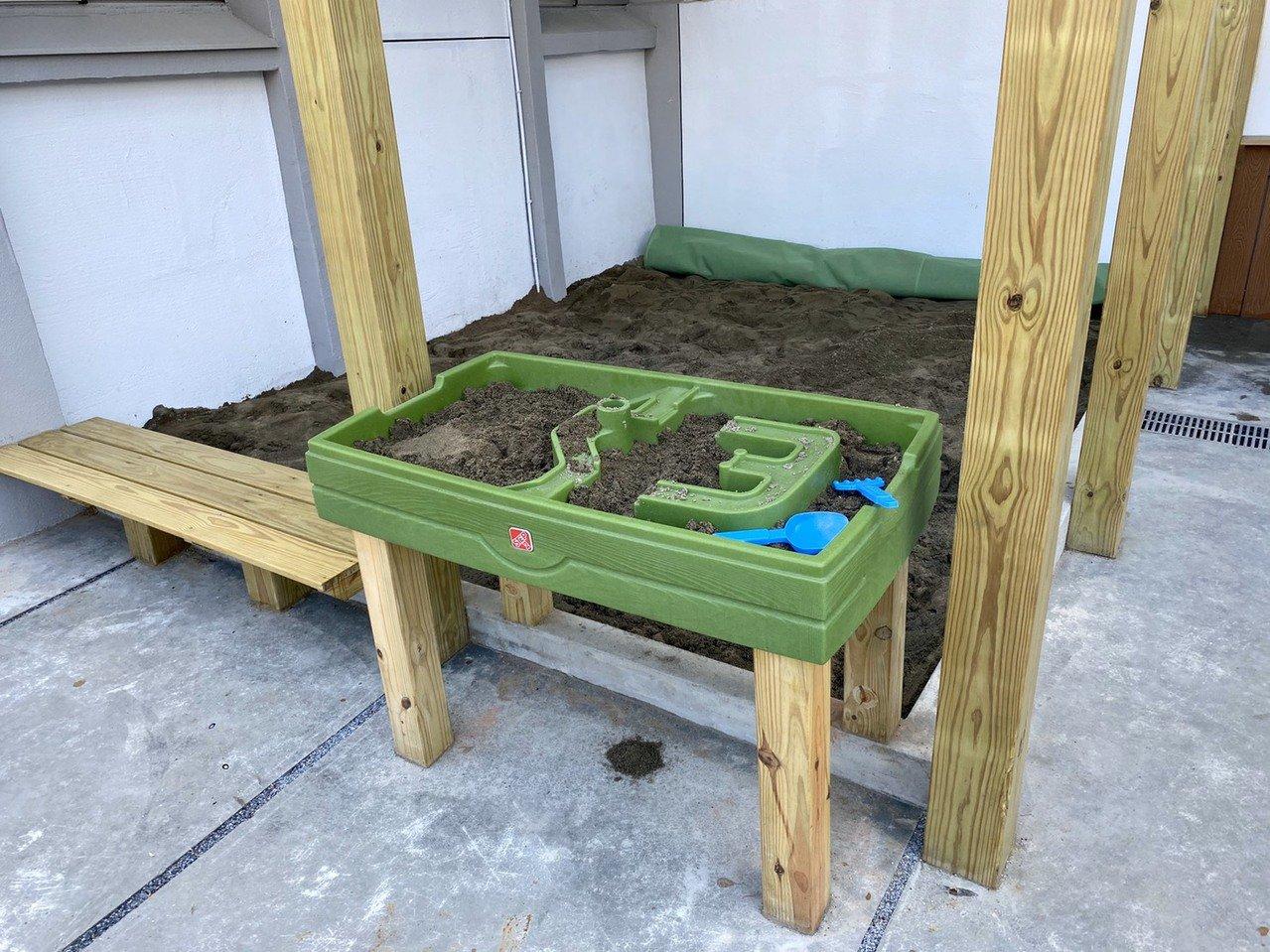 南港親子館是北市唯一有戶外滑坡、沙坑的親子館,前方沙坑台可供輪椅小朋友玩沙,與其...