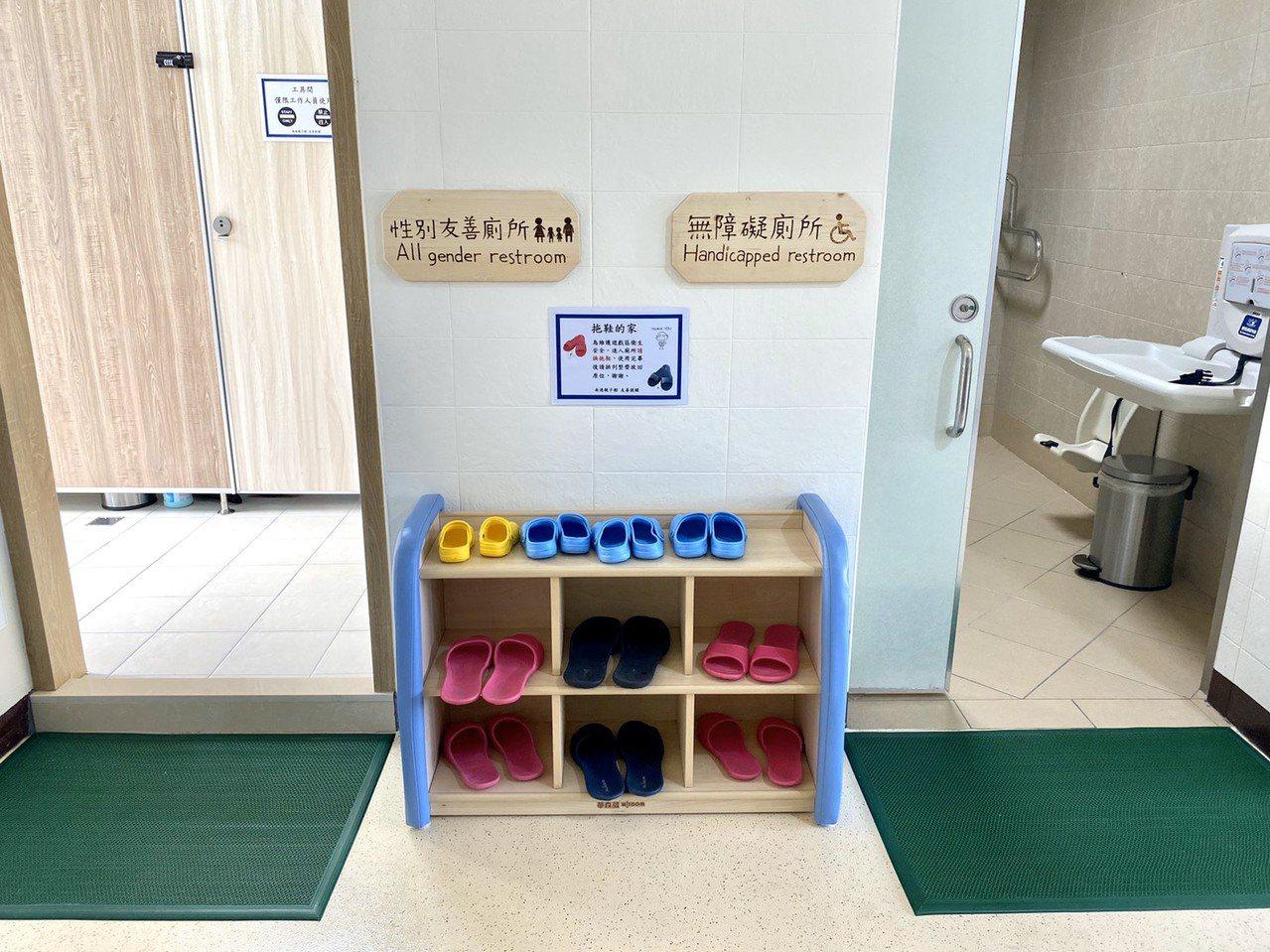 無障礙廁所。記者魏莨伊/攝影