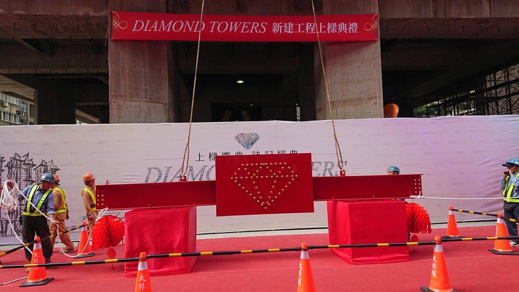 「忠孝正義都更案」正式定名「Diamond Towers」,該案今(16)日舉行...