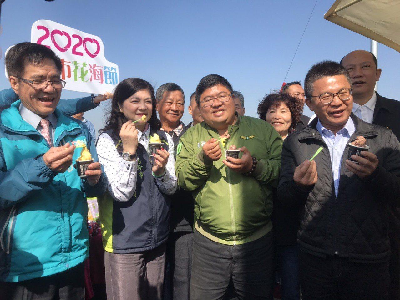 太保市農會成功將溫室洋香瓜與有機米成功製出「洋香瓜冰淇淋」,另有「紫米芋頭冰淇淋...