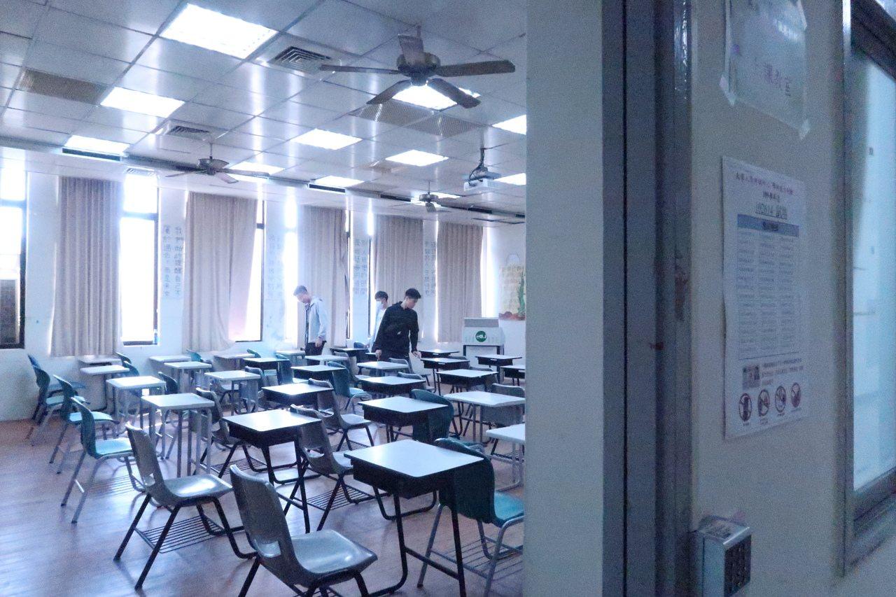 學測前一天開放考生查看試場。記者徐如宜/攝影
