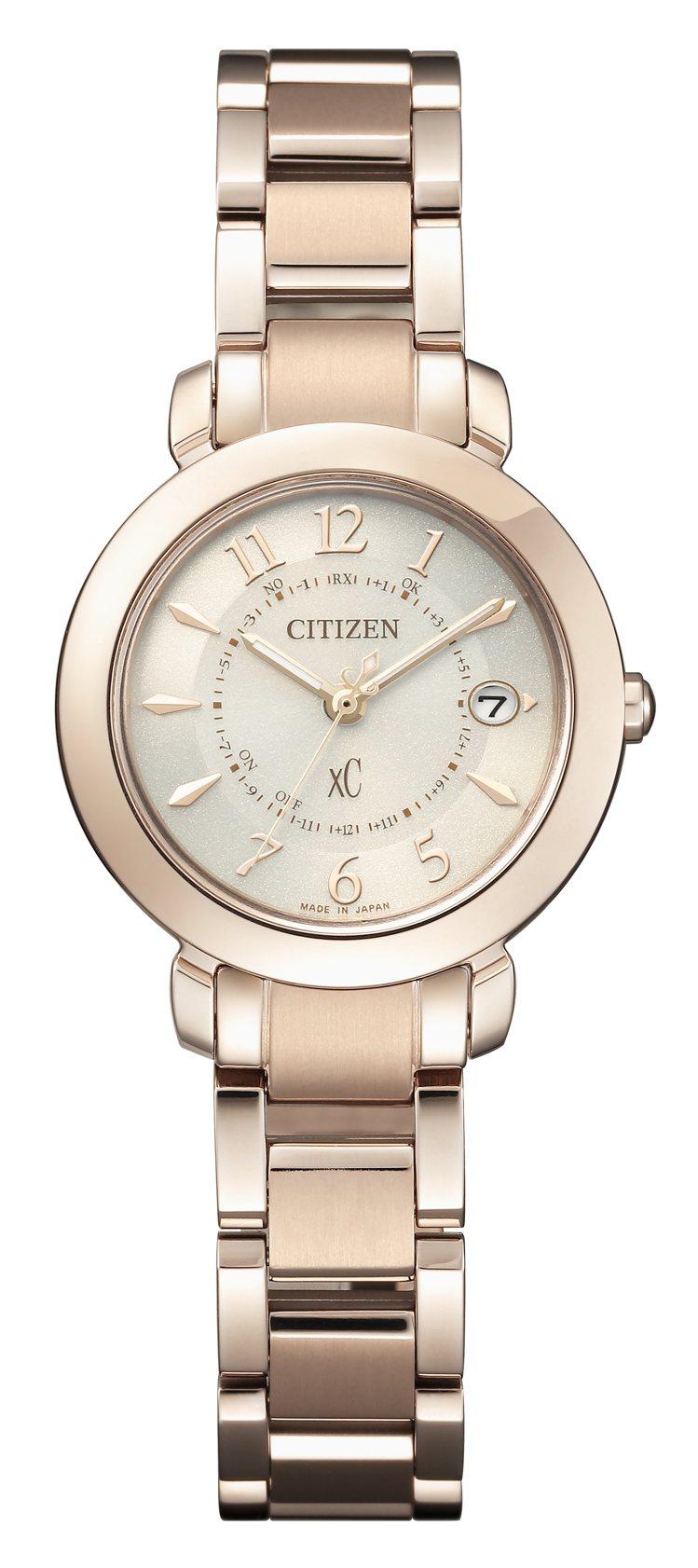 星辰表ES9444-50B腕表,櫻花粉紅金鍍鈦金屬表殼、表鍊,約29,900元。...