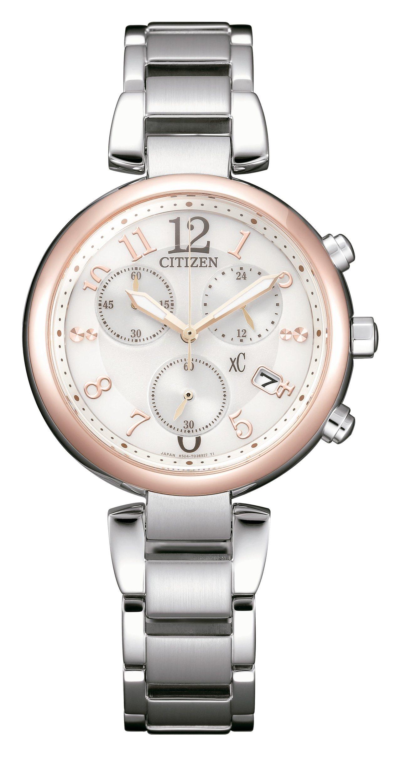 星辰表FB1454-52A腕表,櫻花粉紅金鍍鈦金屬表殼,搭配鈦金屬表鍊,約18,...