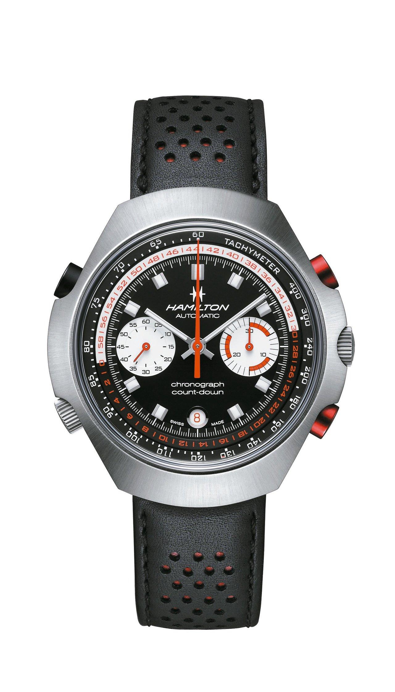 漢米爾頓Chrono-Matic 50計時碼表,不鏽鋼表殼,台灣限量20只,約8...