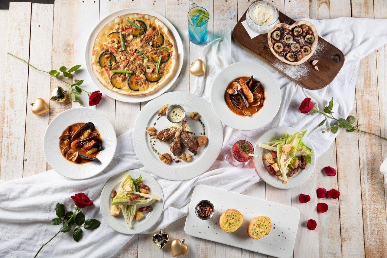 Mad for Garlic推出雙人套餐,總共有6道菜。圖/Mad for Ga...