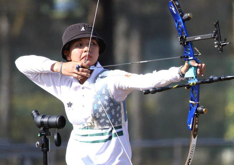 林佳恩在東京奧運國手選拔賽總排名第一,第二度選上奧運國手。圖/中華射箭協會提供