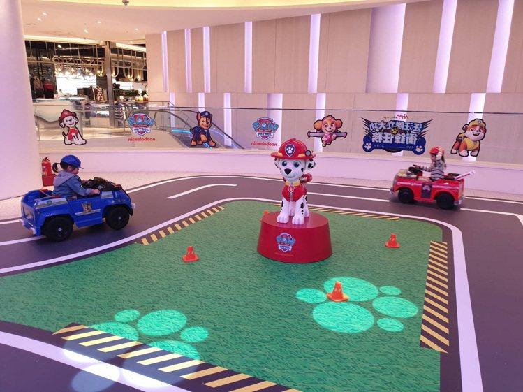 ATT 4 Recharge推出「汪汪隊立大功」衝鋒電動車遊戲。圖/ATT 4 ...
