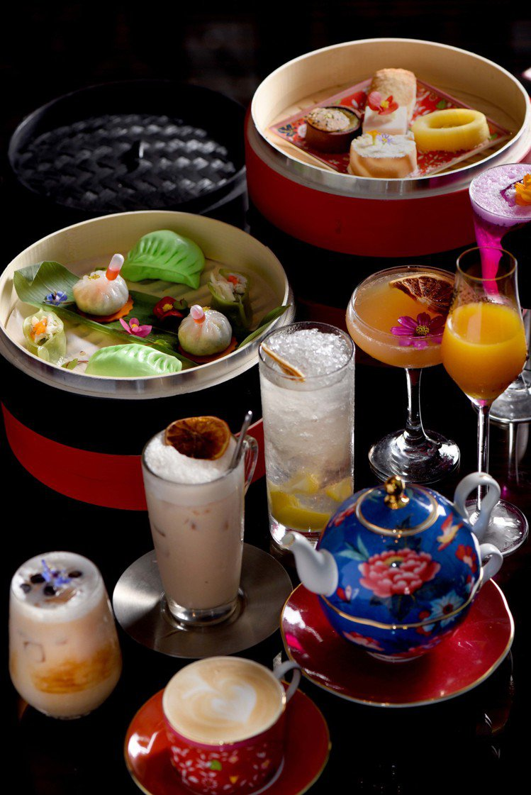 W Hotel的紫艷酒吧與Wedgwood,推出聯名下午茶。圖/Wedgwood...