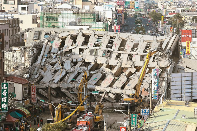 台南維冠大樓在南台大震時倒塌,造成115人死亡。 圖/聯合報系資料照片