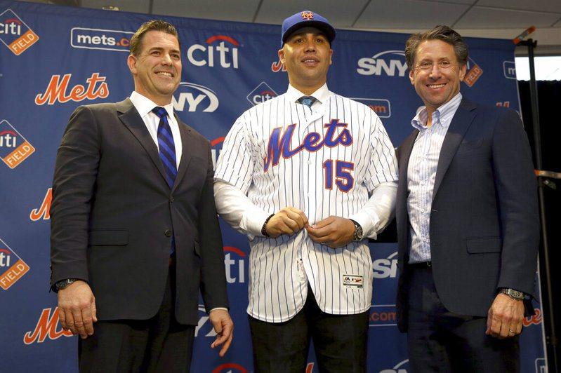 大都會隊今天與新任總教練貝爾川(Carlos Beltran)協議分手。 美聯社