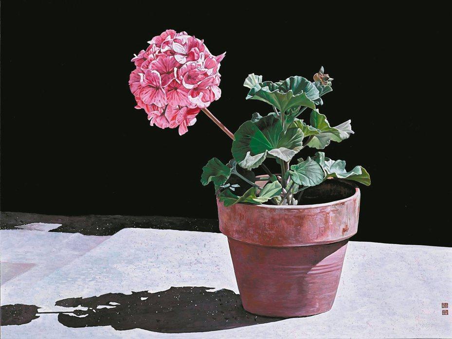 陳偉毅漆畫作品〈日光浴〉