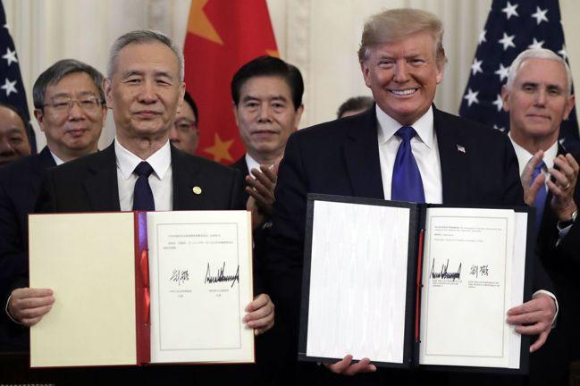 美中終於簽署第一階段貿易協議,但若細究細節,可發現有一部分是中國大陸已經承諾的行...