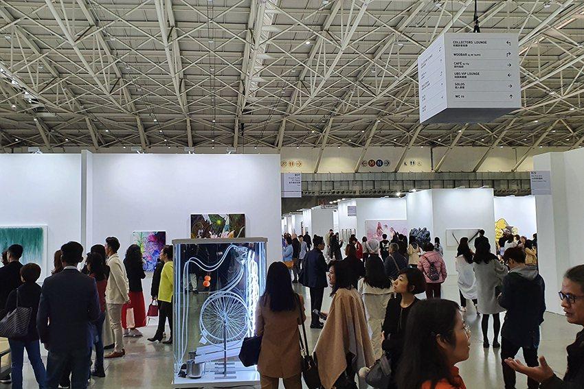 第二屆台北當代藝術博覽會1月17至19日在台北南港展覽館1館登場。 曹松清/攝影