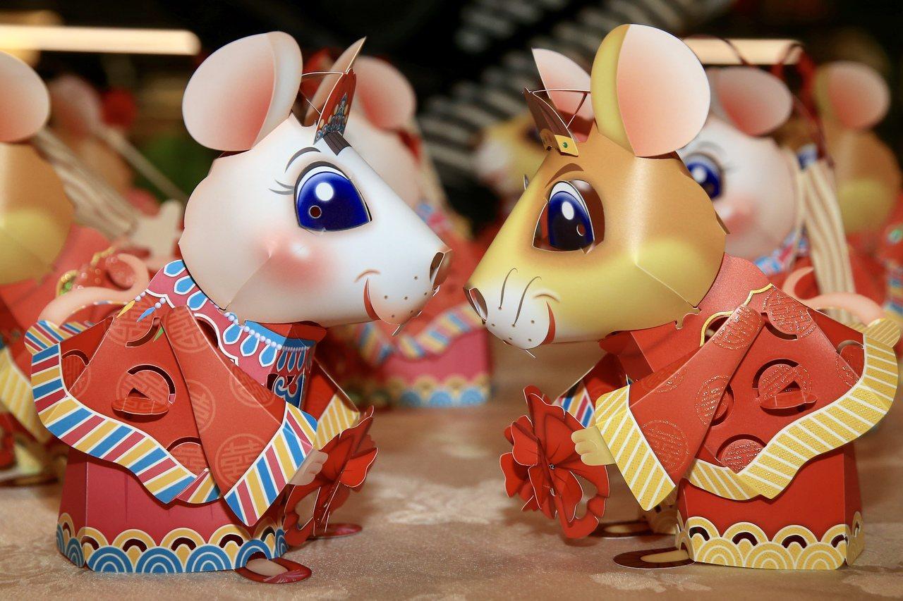 2020台灣燈會小提燈「吉利鼠與美力鼠」以今年生肖鼠為題,以老鼠娶親故事為發想,...