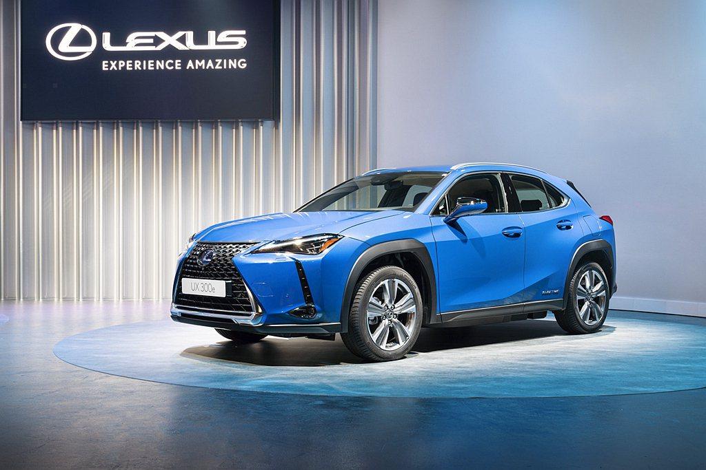 Lexus日前公布歐規UX 300e EV車型相關資訊。 圖/Lexus提供