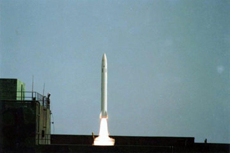 傳聞中科院曾修改一批天弓二型飛彈成為對地打擊用途的彈道飛彈。 圖/中科院提供