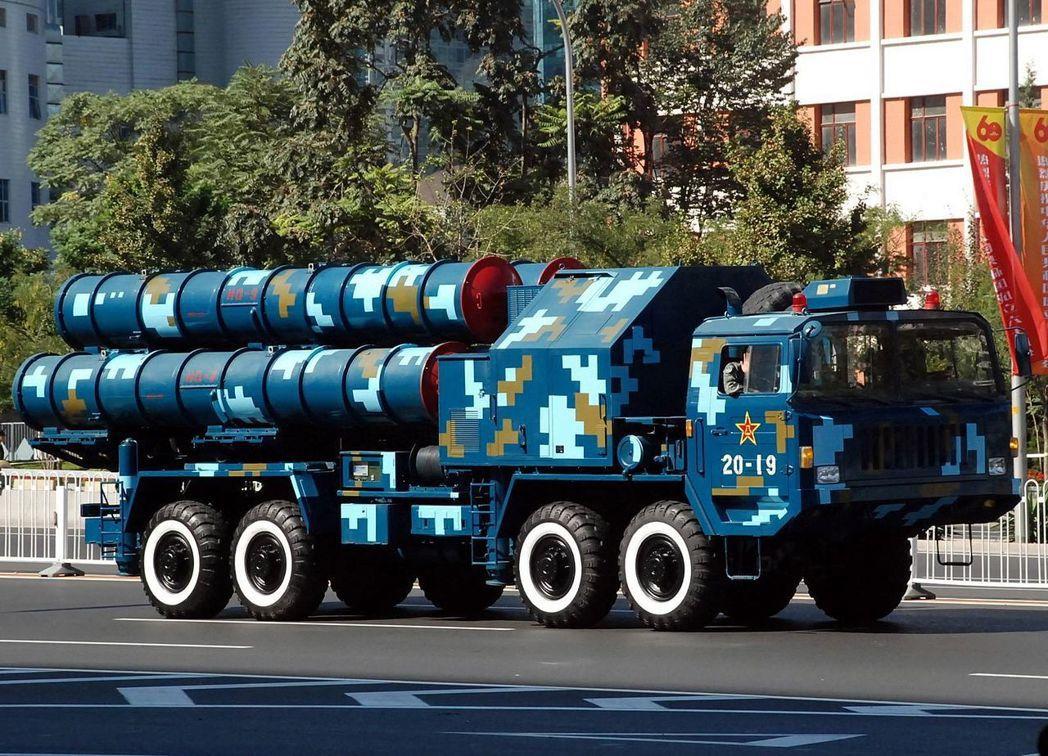 解放軍自製紅旗九型地對空飛彈,並宣稱有部分反彈道能力。 圖/Jian Kang攝...