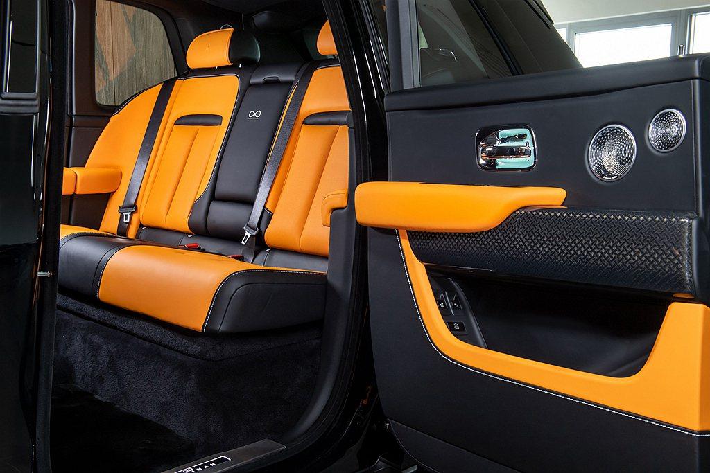 勞斯萊斯Cullinan內飾團隊創造一款大膽的亮橘全新真皮顏色,為品牌客製化中再...