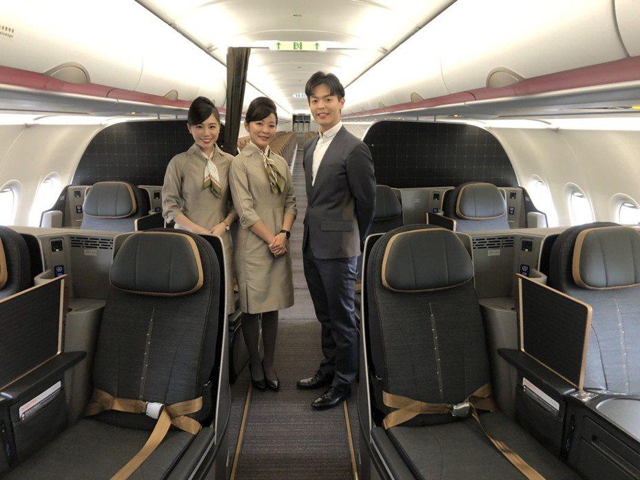 星宇航空A321neo座艙及機艙設備曝光。記者侯俐安/攝影