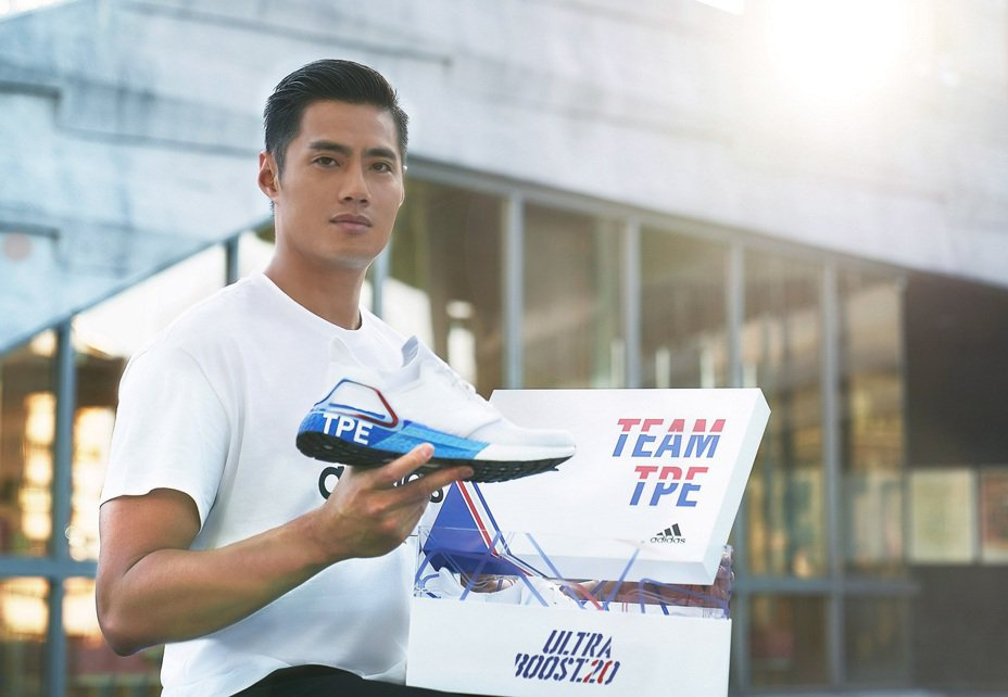 adidas攜手陳偉殷,號召運動迷一同穿上Ultraboost 20城市系列鞋款,力挺Team TPE前進東京。圖/品牌提供