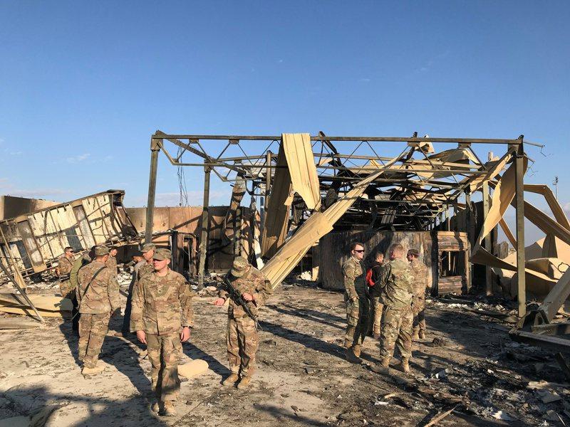 日前遭到伊朗飛彈攻擊的基地之一。路透
