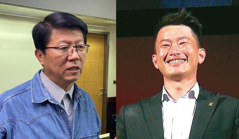 謝龍介(左)、陳柏惟(右)。圖/本報資料照片