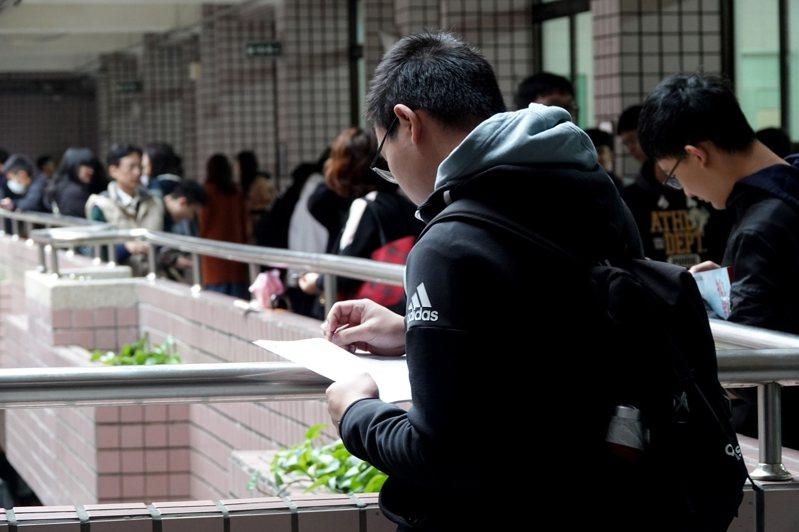 大學學測第一天。記者余承翰/攝影