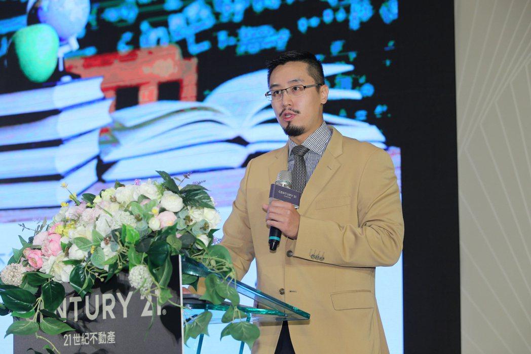 21世紀不動產亞太區暨台灣區總部總經理王暐傑。 圖/業者提供