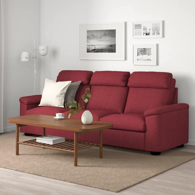 IKEA LIDHULT系列沙發,以沉穩紅色帶出喜慶氛圍,象徵鴻運當頭成為年節首...