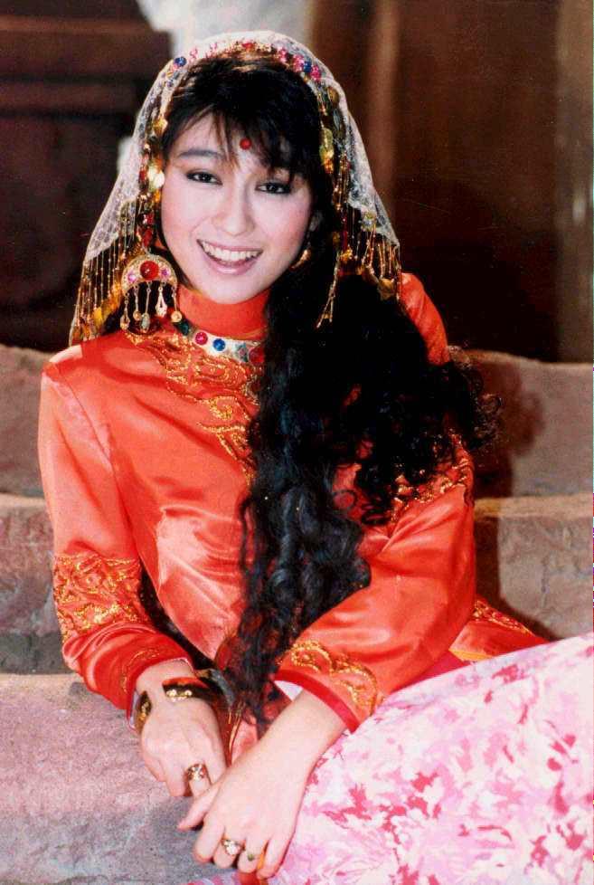 楊林在「新阿里巴巴」中東女孩扮相清純美麗。圖/報系資料照片