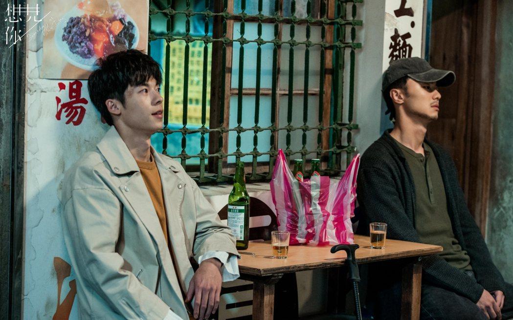 許光漢(左)、施柏宇在「想見你」戲中兄弟情虐心,網友哭成淚海。圖/衛視中文台提供...