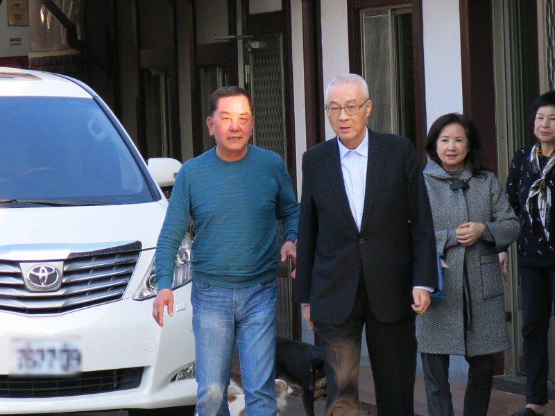 國民黨前黨主席吳敦義回南投故鄉拜訪老友莊秋安,都建議吳未來放下,開始規畫退休生活。記者黑中亮/攝影