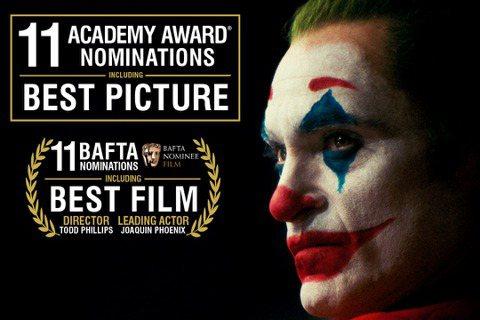 第92屆奧斯卡金像獎入圍名單公布,「小丑」強勢入圍11項成為最大贏家,包括:最佳影片、最佳導演、最佳男主角、最佳改編劇本、最佳攝影、最佳剪輯、最佳配樂、最佳音效、最佳混音、最佳服裝設計和最佳妝髮設計...
